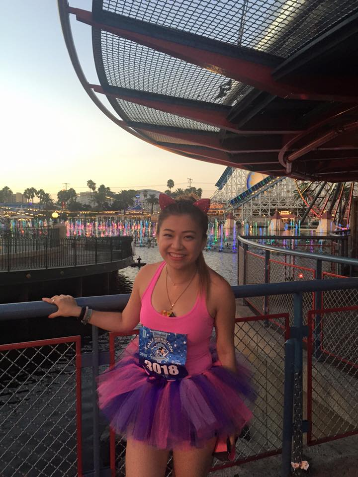 risa xu disneyland half marathon world of color