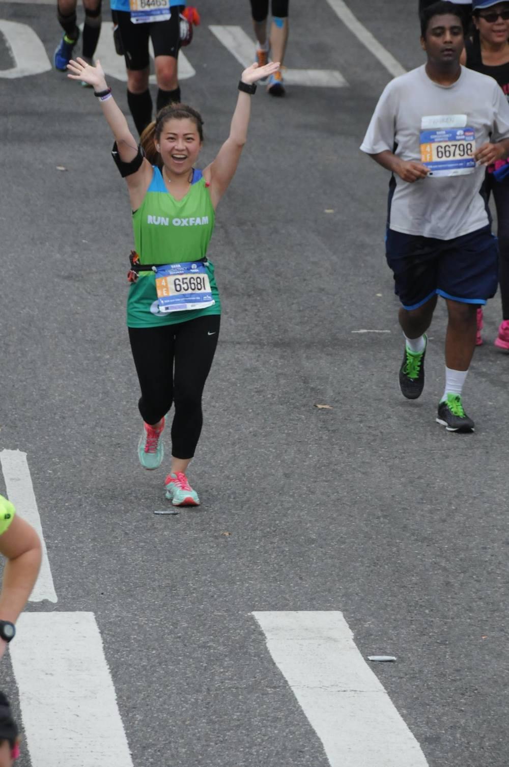 risa xu 2015 nyc marathon run oxfam