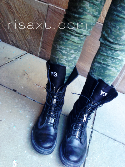 risa xu y3 rogue military boots