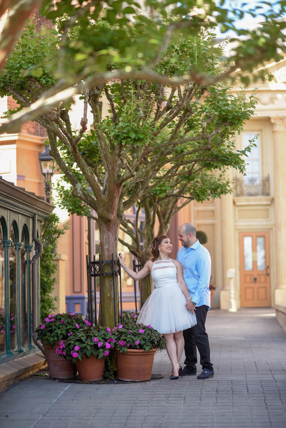 risa xu epcot engagement shoot france walt disney world