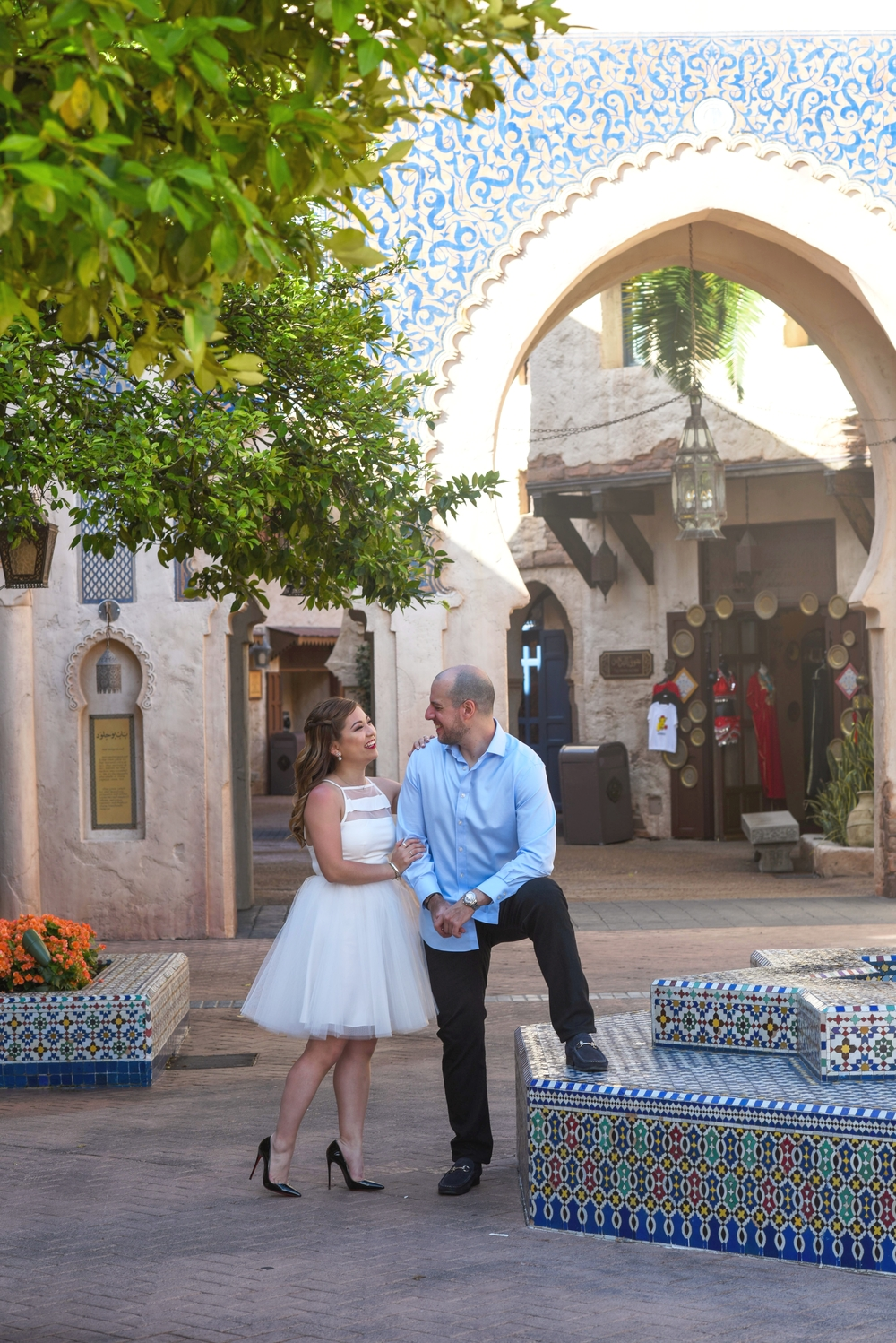 risa xu epcot engagement shoot morocco walt disney world
