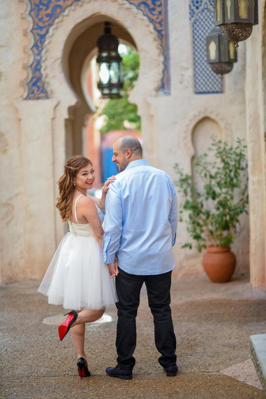 epcot engagement shoot morocco walt disney world risa xu