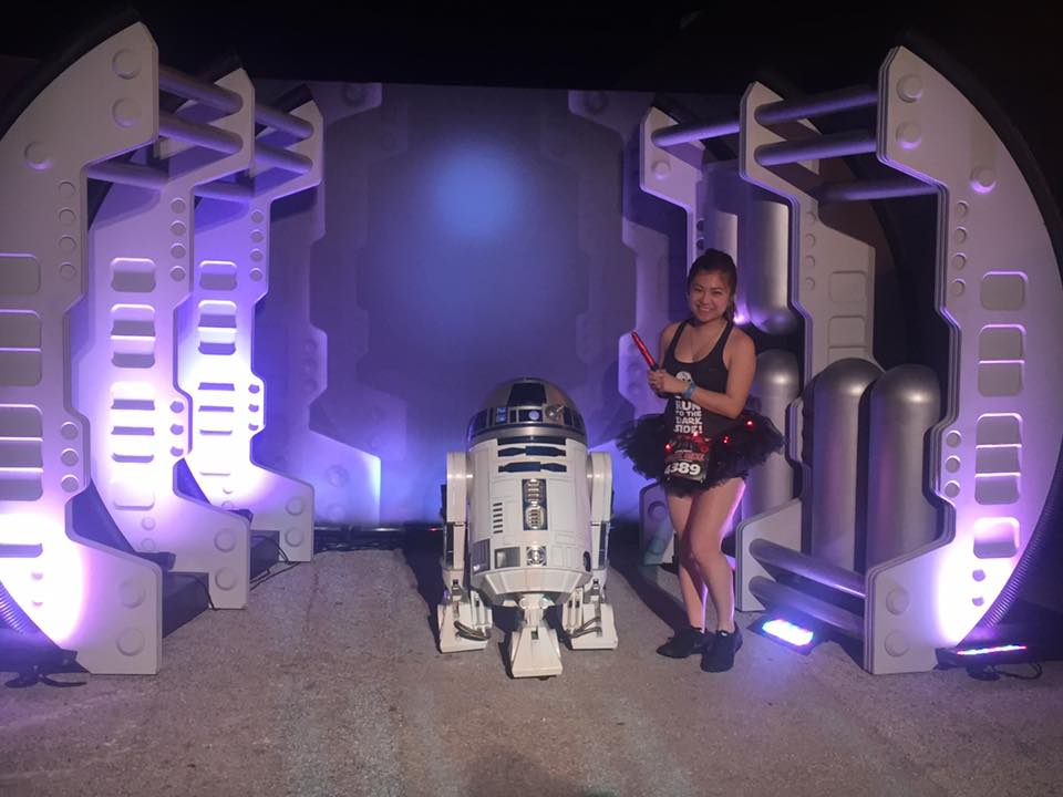 risa xu star wars dark side half marathon rundisney r2d2