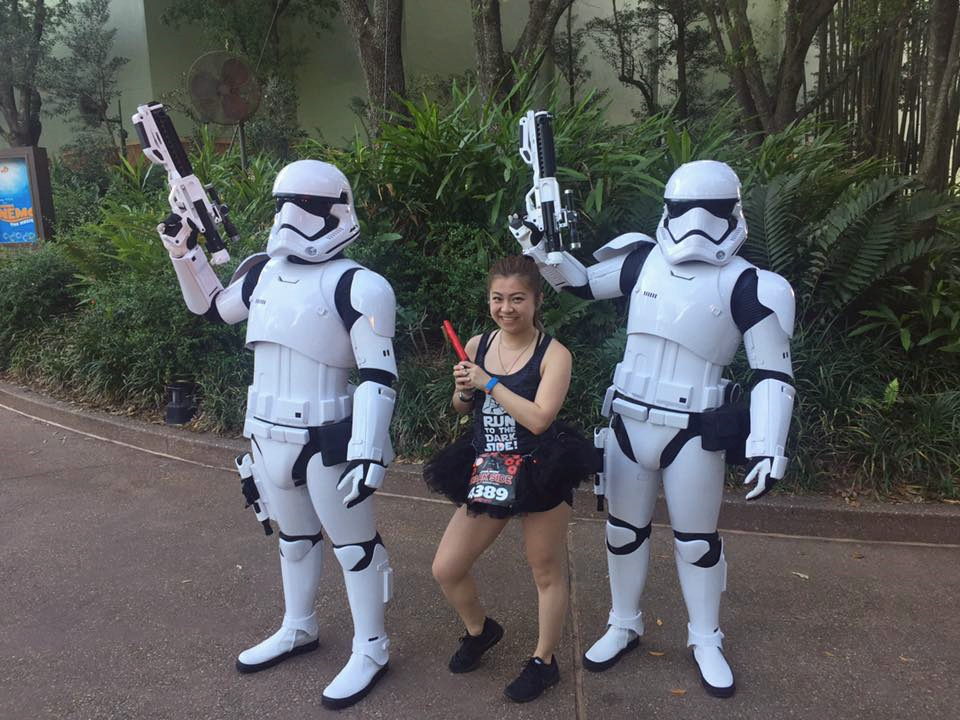 risa xu rundisney star wars dark side half marathon stormtroopers
