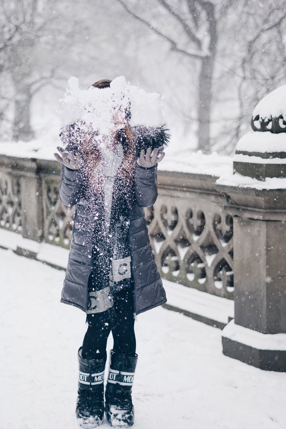 risa xu moon boots snow day nyc blogger