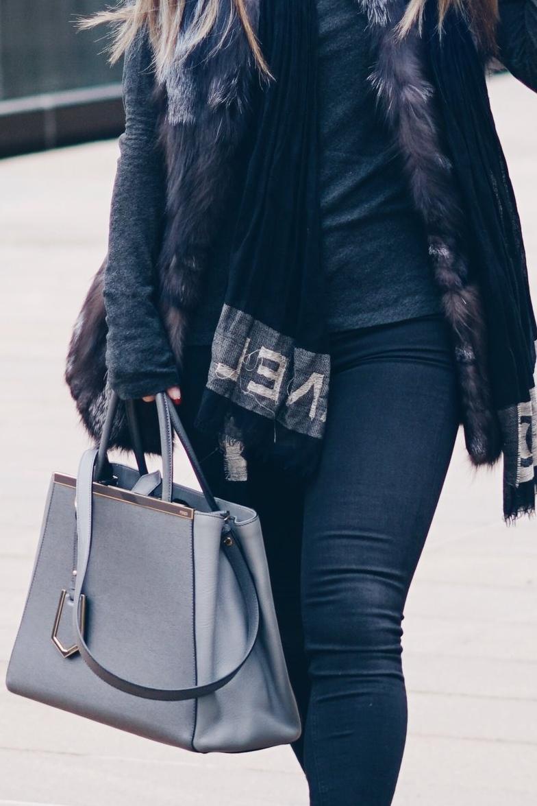 risa xu grey outfit details