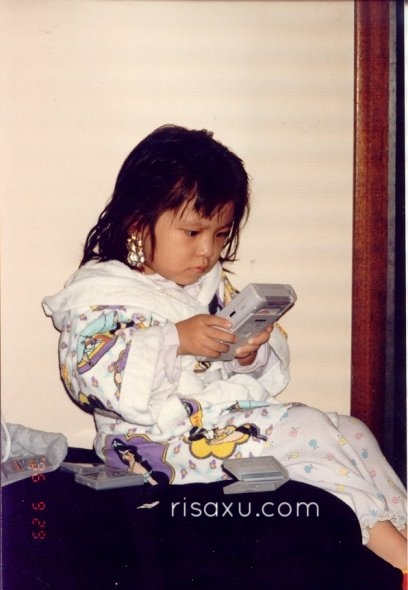risa xu baby picture gameboy princess jasmine robe