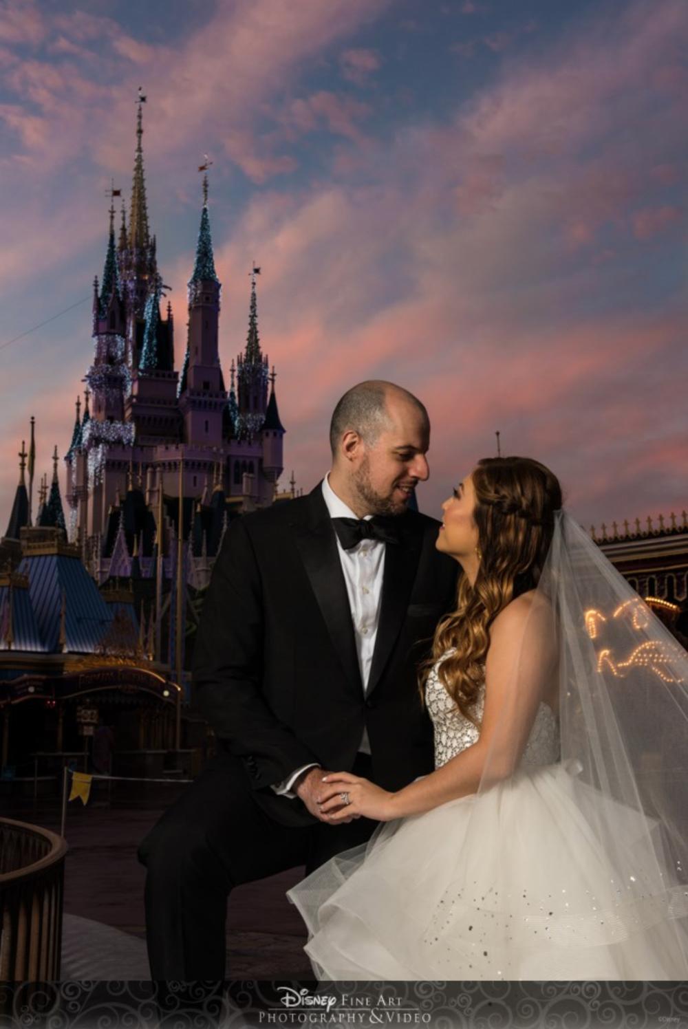 risa xu happily ever arvanitis disney weddings magic kingdom photoshoot