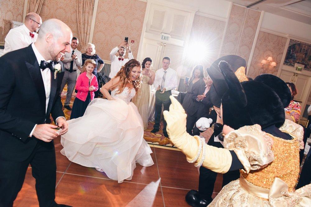 disney wedding risa xu mickey minnie dance floor