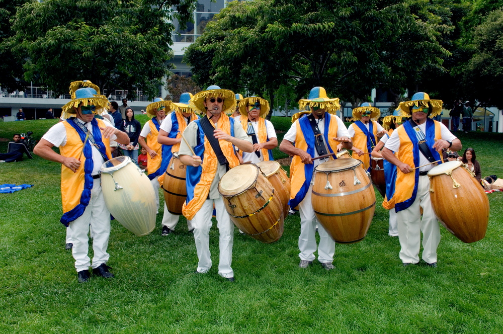 Edgardo Cambon and his troupe of Uruguayan candombe drummers at Yerba Buena Gardens 2007.jpg