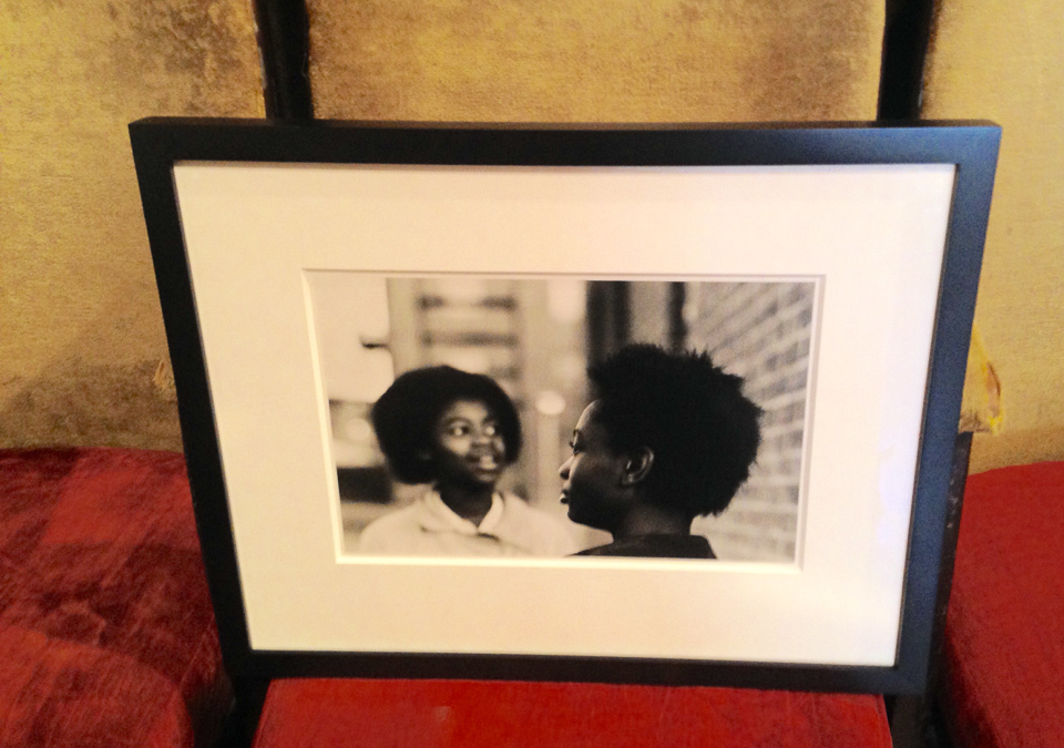 Photograph framed in classic black frame with 8 ply matting.