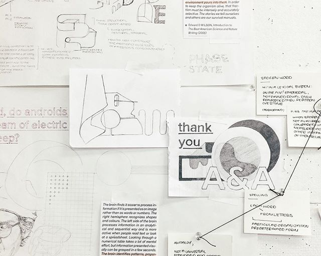 From lists to mind maps--five more weeks until this thesis wraps up, then two weeks for some elaborate install shenanigans. Stay tuned... 😏 . . . . #MECA #mymecawork #thesis #drawing #writing #design #research #process #yikes