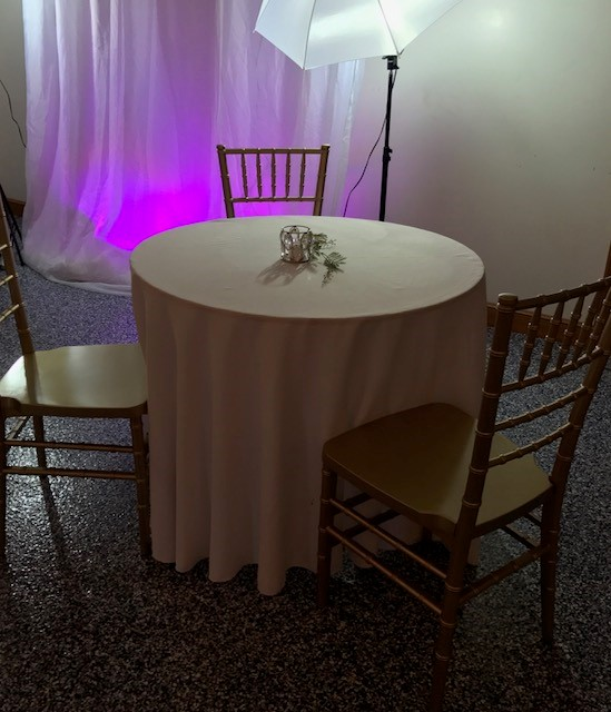 Cocktail Tables -  Low Top and Uplighting Rentals