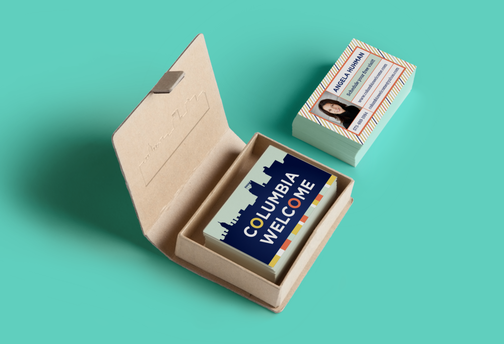 Columbia Welcome Business Cards - Gillian Tracey Design