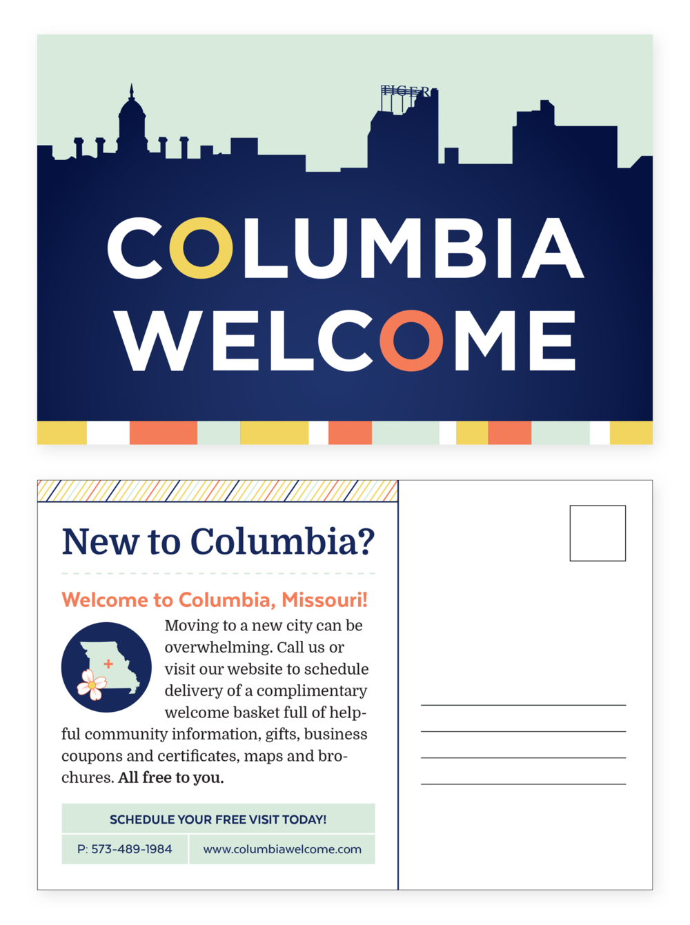 Columbia Welcome Postcards