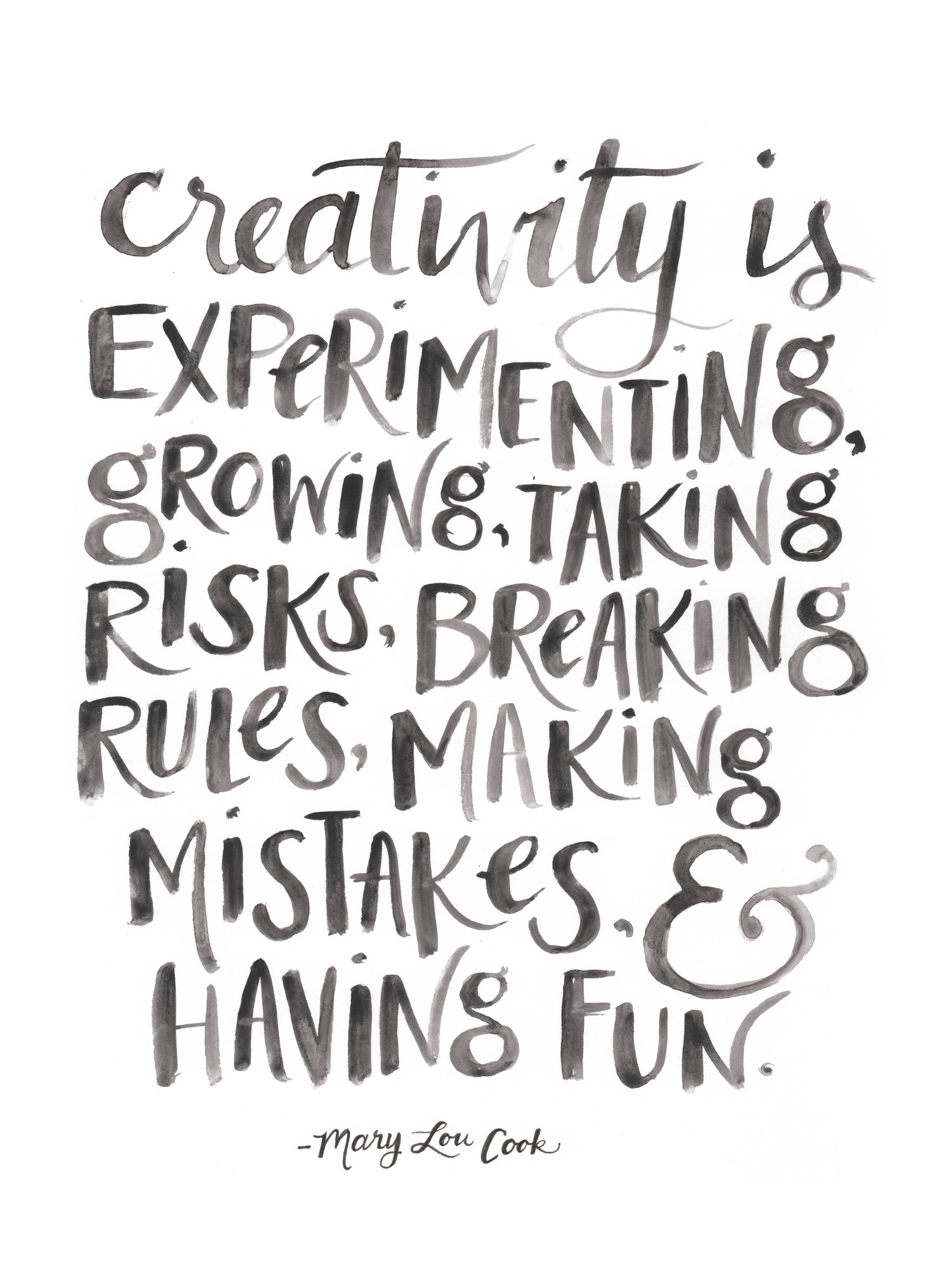 Creativity Quote By Gillian Tracey Designs