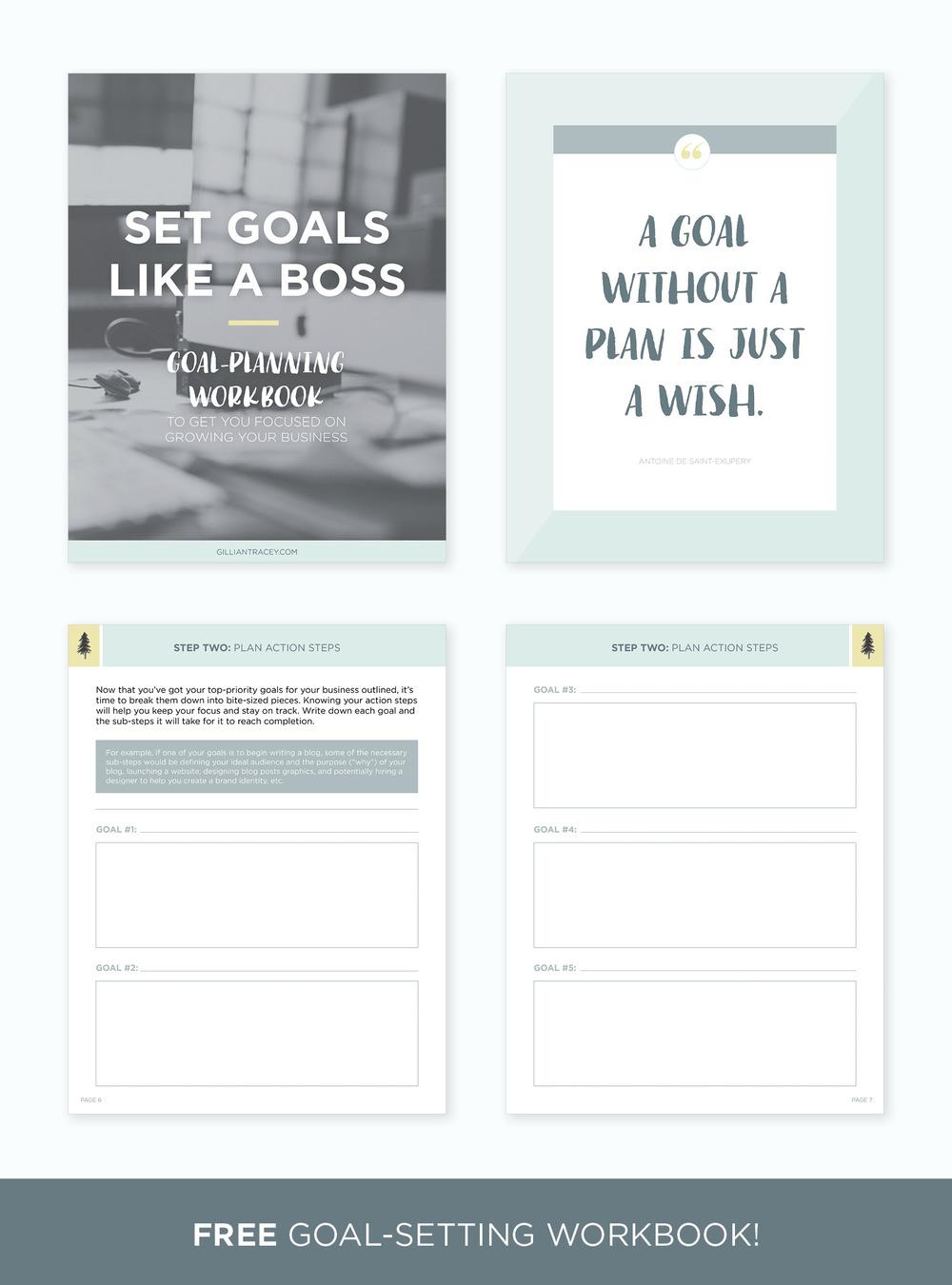 Workbooks goals workbook : Set the Best Goals for Your Business (+ free workbook) — Gillian ...