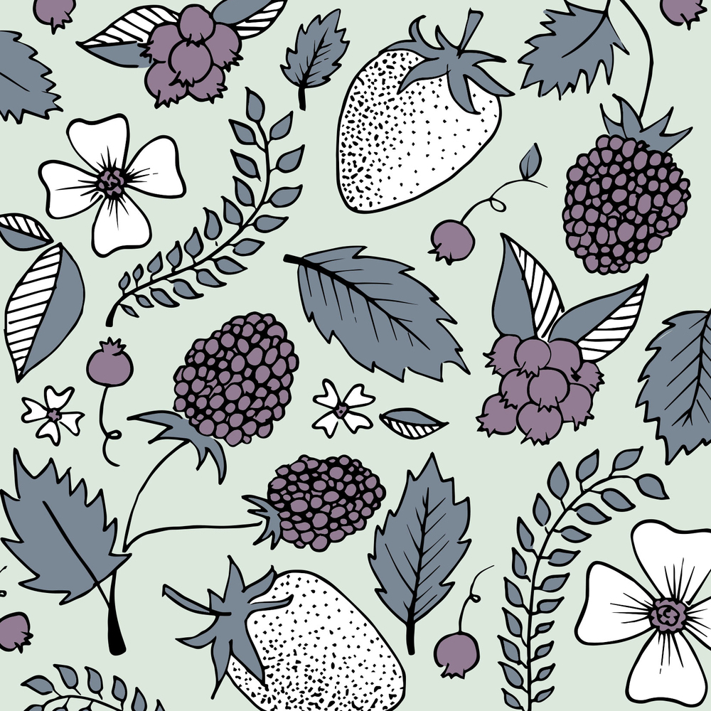 Becky's Berries Concept Brand Pattern by Gillian Tracey Design