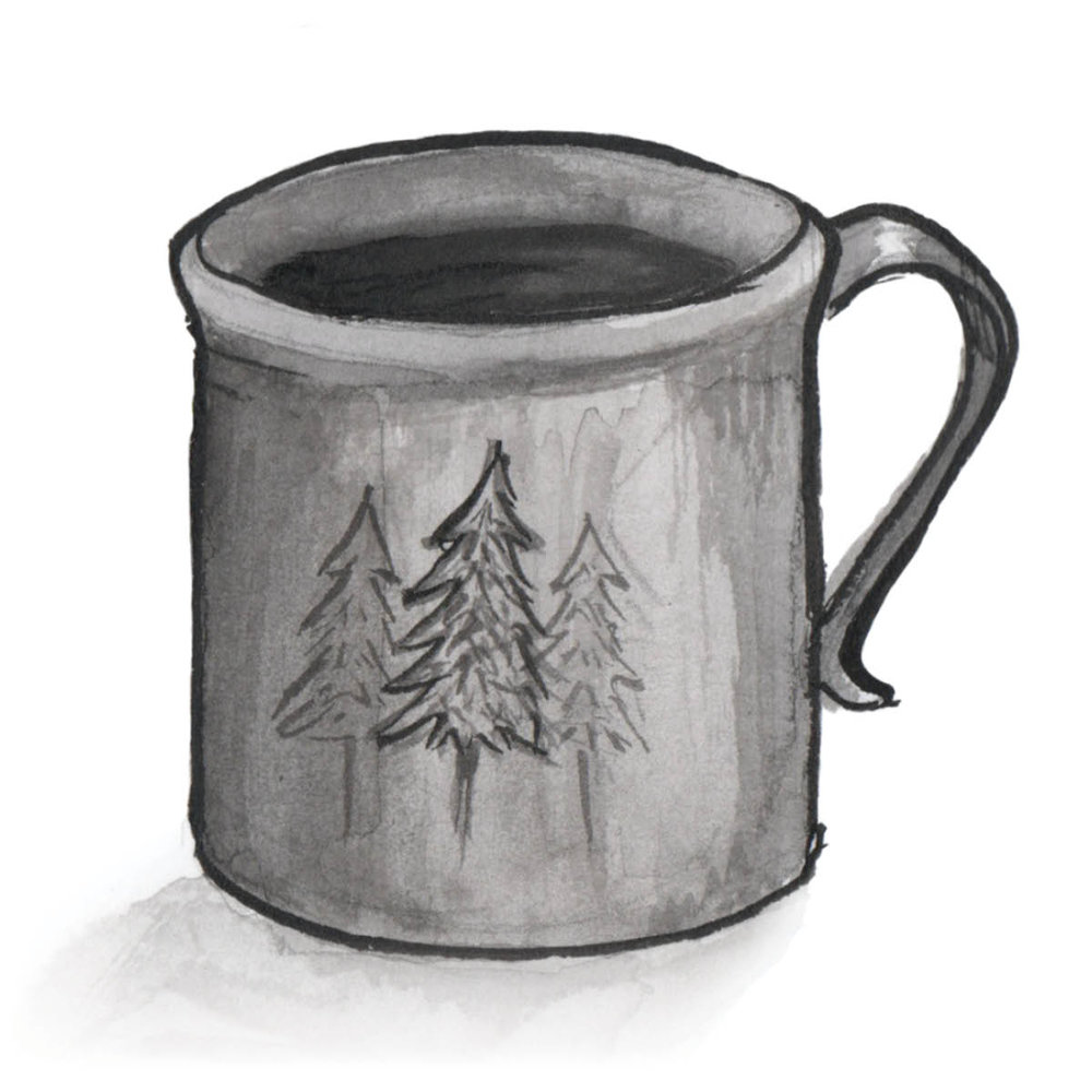 Watercolor coffee mug illustration - Gillian Tracey Design