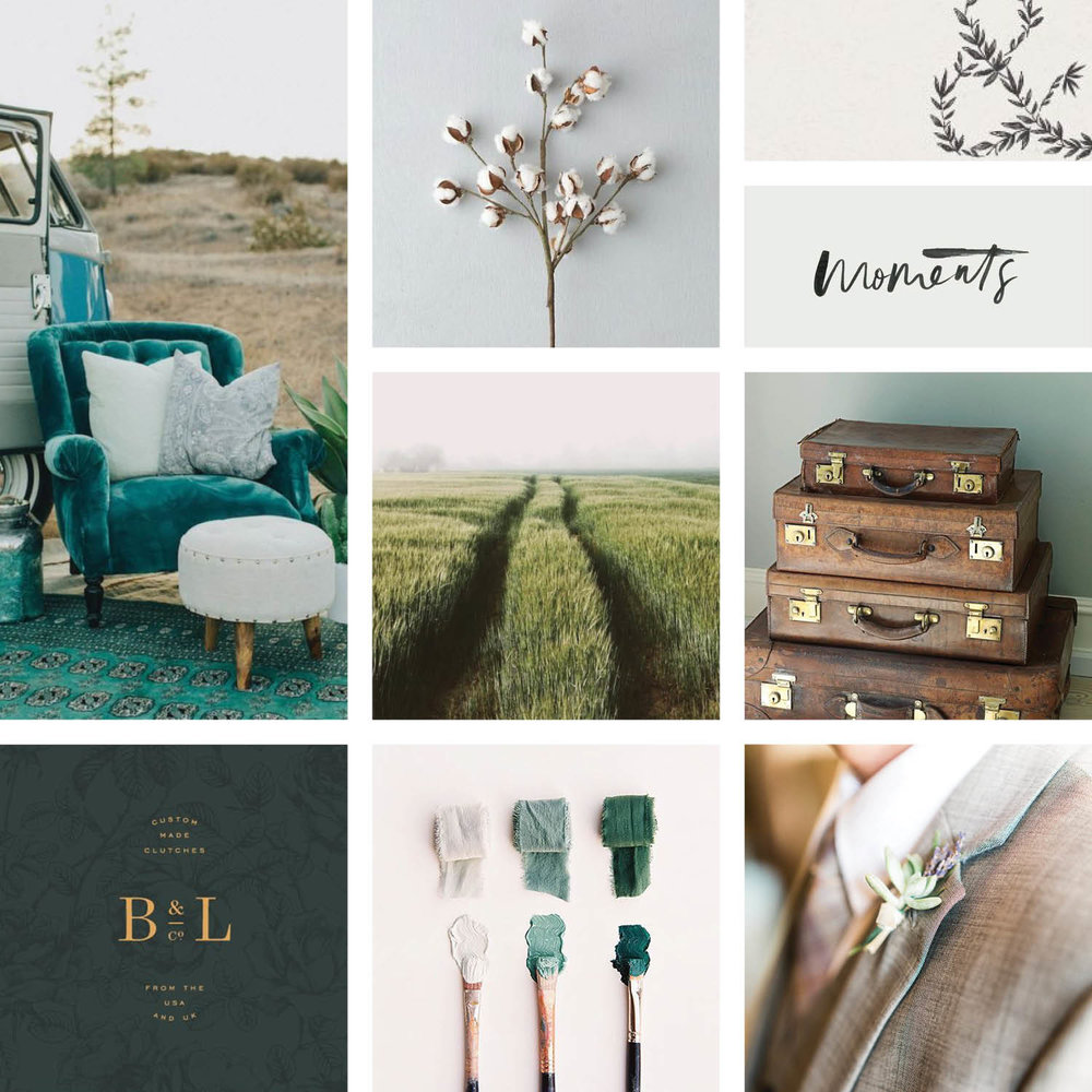 Shell Creek Photo Mood Board - Branding by Gillian Tracey Design