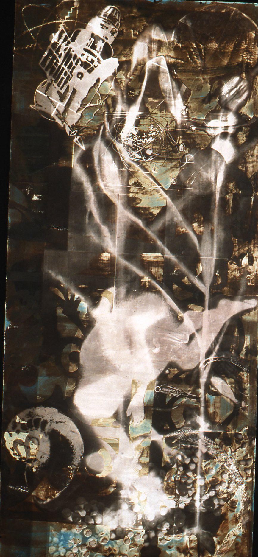 Heaven and Earth #1  , Van Dyke and Cyanotype, 42 x 96 inches, 1998, Collection of the Peel Art Gallery (PAMA),  David Somers Works on Paper Collection