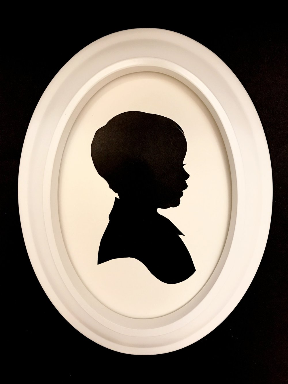 White Oval Silhouette Frame — Cut Arts