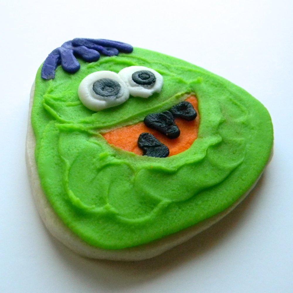 halloween.cookies.happy monster green.jpg