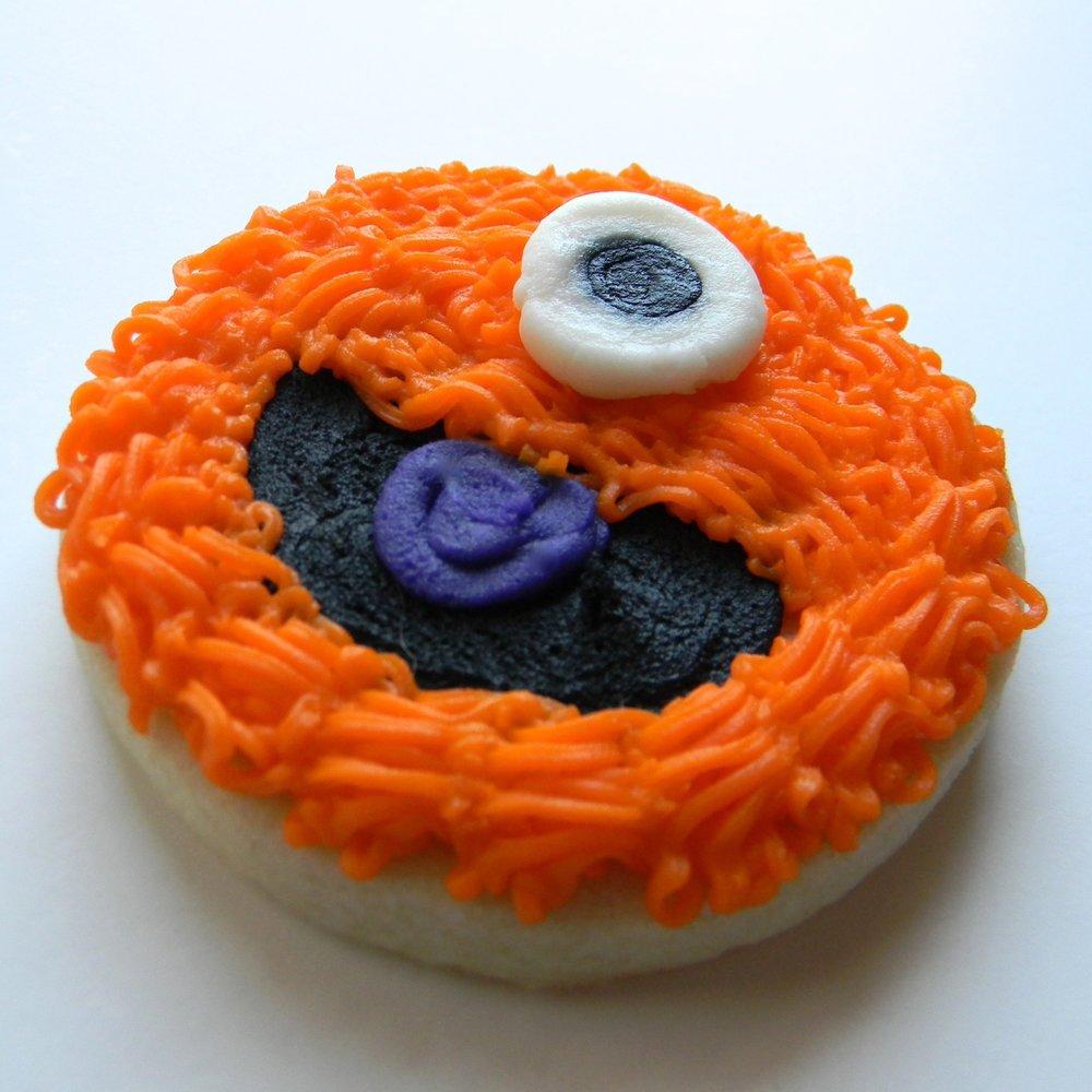 halloween.cookies.happy monster orange.jpg