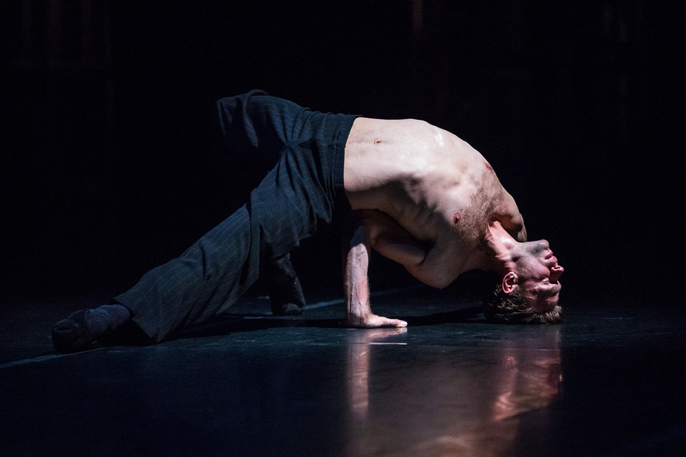 Brett Conway of Nederlands Dans Theater I in Paul Lightfoot and Sol Leon's  Softly As I Leave You .  photo: Alex Reneff-Olson