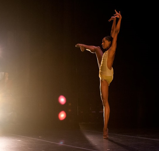 Courtney Henry of Alonzo King LINES Ballet in  Rasa .  photo: Natalia Perez