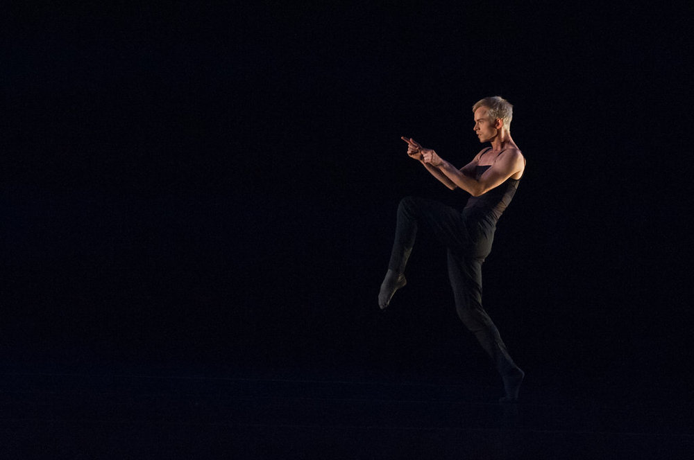 Christian Squires of Post:Ballet in Robert Dekkers'  Yours is Mine .  photo: Natalia Perez