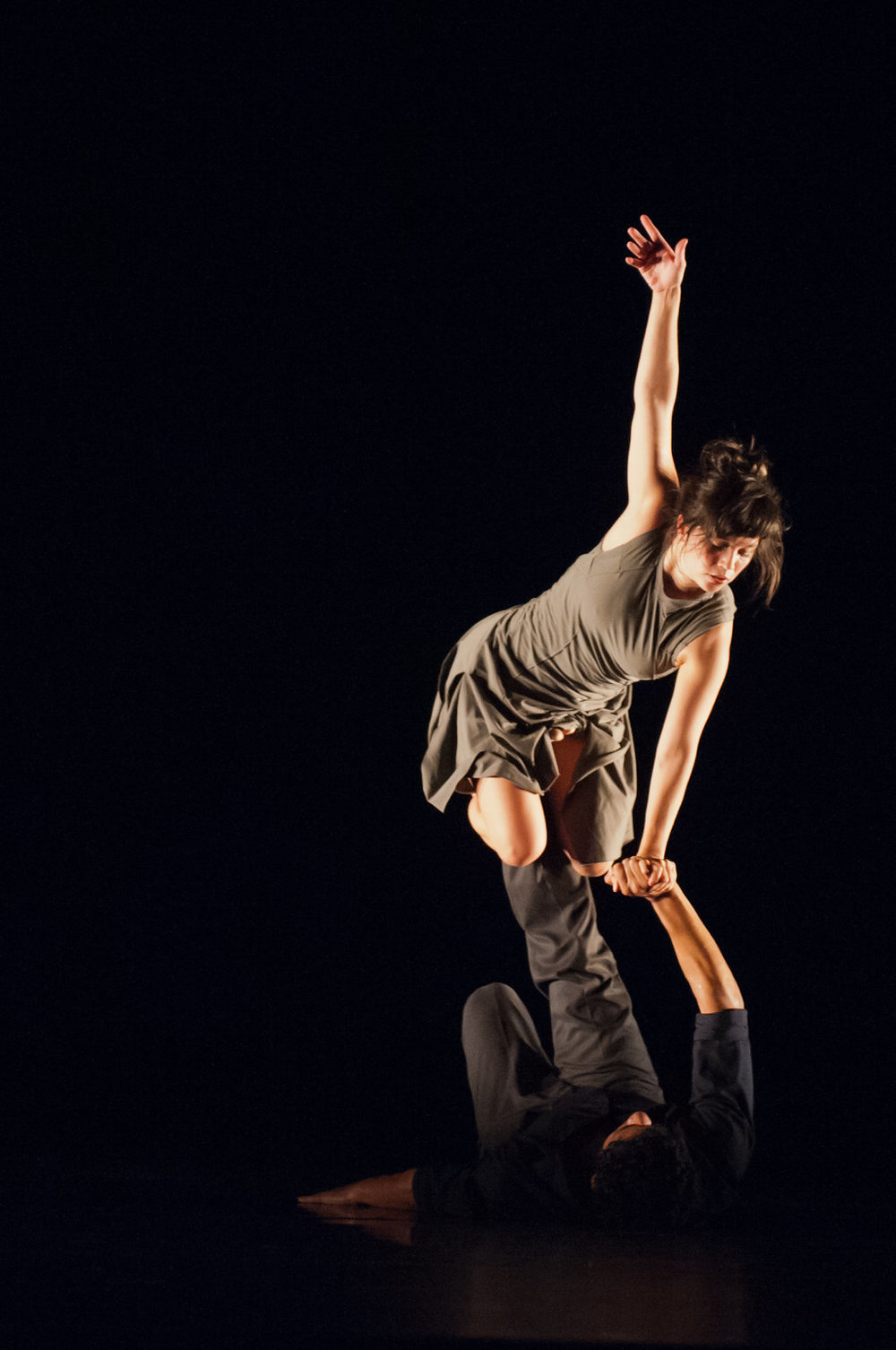 Natasha Adorlee Johnson and Joseph Hernandez of ODC/Dance in Kate Weare's  Drop Down.   photo: Natalia Perez