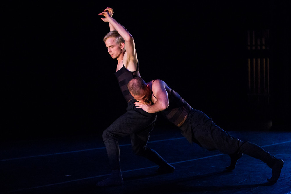 Aidan DeYoung and Christian Squires of Post:Ballet in Robert Dekkers'  Yours is Mine .  photo: Alex Reneff-Olson