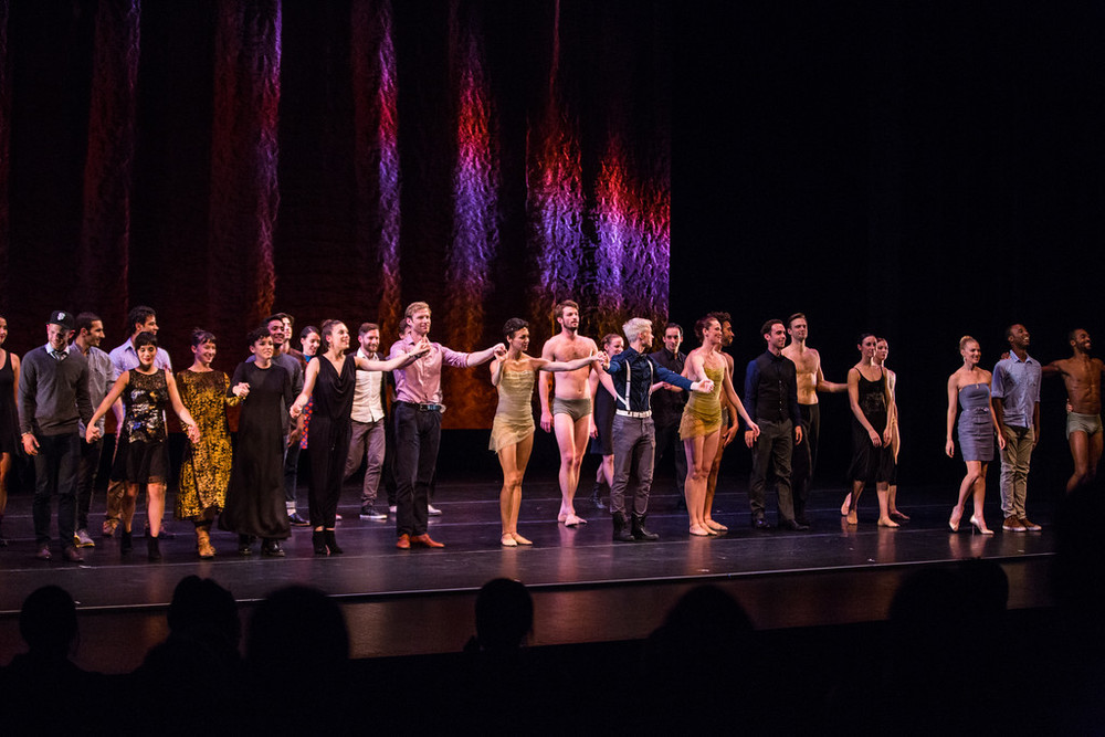 DanceFAR 2014 performers taking a bow at the YBCA Theater.  Photo by Alex Reneff-Olson.