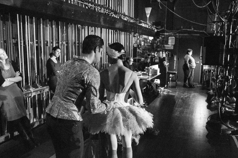 Marcelo Gomes and Stella Abrera backstage. photo by Drew Altizer