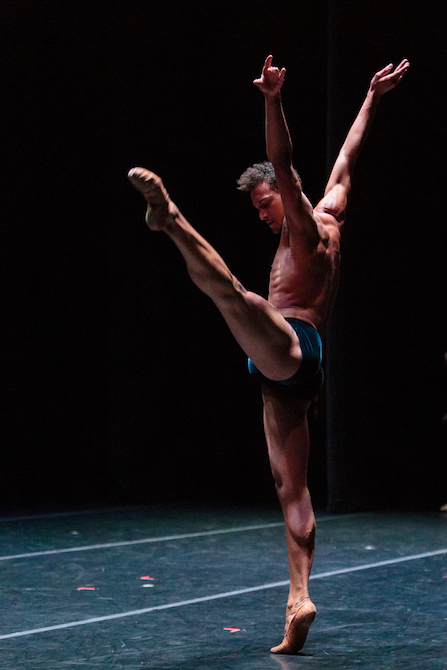 Isaiah Bindel of dawsondancesf in Gregory Dawson's  Gestures and Angels . photo: Alex Reneff-Olson