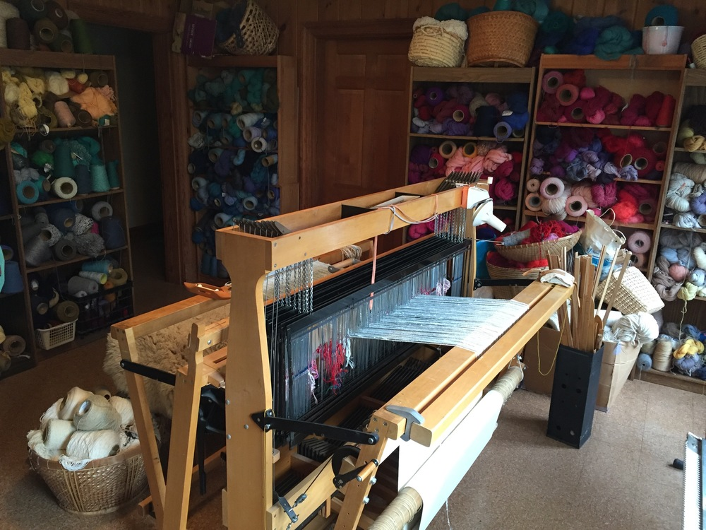 Carter's weaving studio in Ivy, VA.