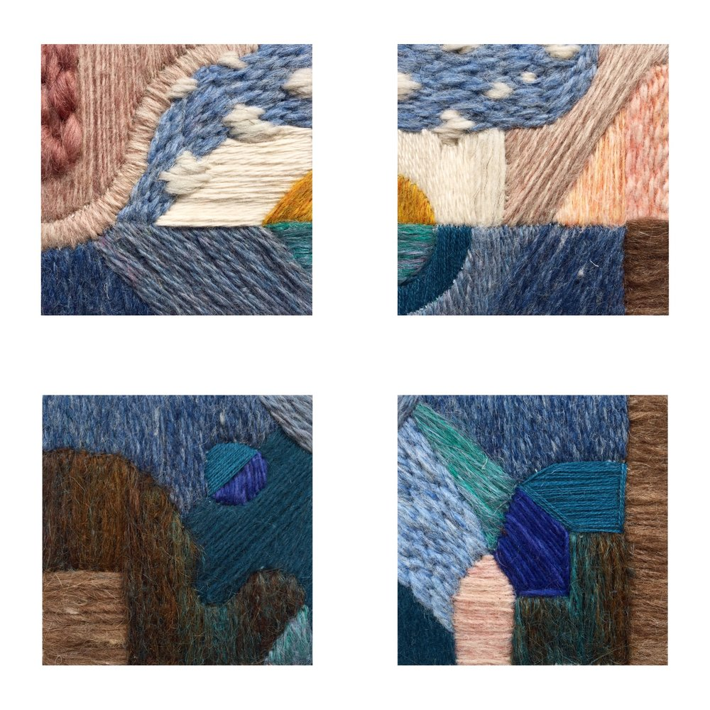 "Digital collage of the four 4"" squared miniatures that compose ""Water is Life."""