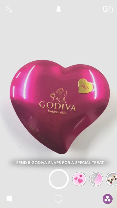 """Send 5 Godiva Snaps for a Special Treat"""