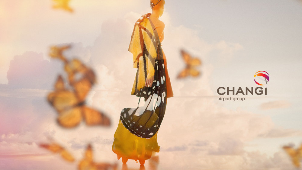 Changi Airport  Brand campaign, visual treatment.