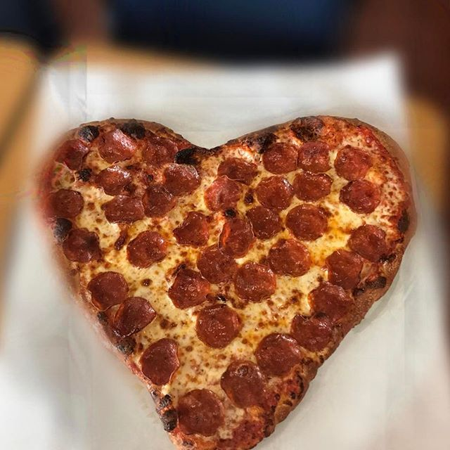 Hungry? Come grab a slice! Happy valentine's day