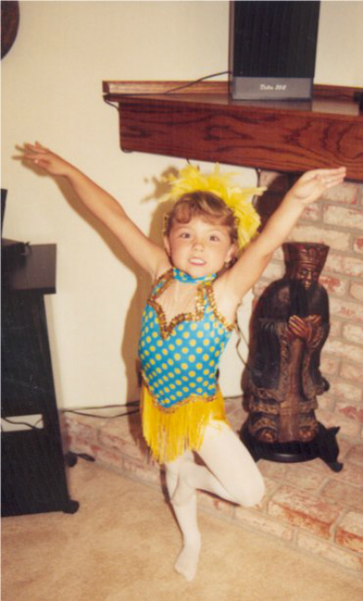 "My photo is from my first ever dance recital--dancing in a tap piece entitled ""Shaggy Dog."""