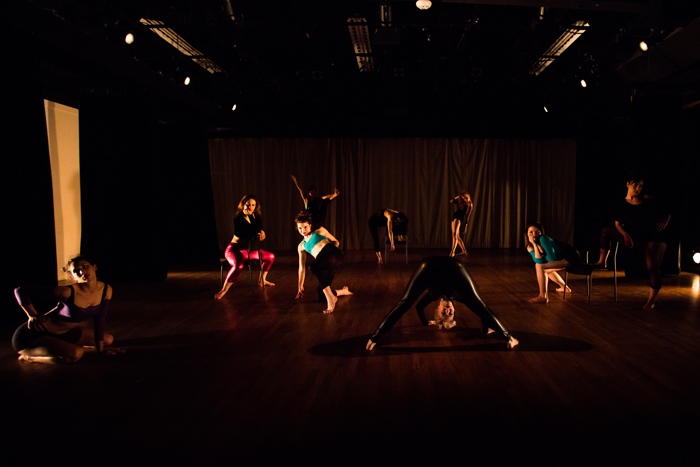 "Season II dancers (from left to right) Ciara McCormack Greenwalt, Caitlin Schafte, CarliAnn Forthun, MacKenzie Blue Tapia, Elise Landles, Ellen Cooper, Samantha Weissbach, & Katie Borthwick in ""Je Suis Une Femme."" Photo courtesy of  JazzyPhoto ."