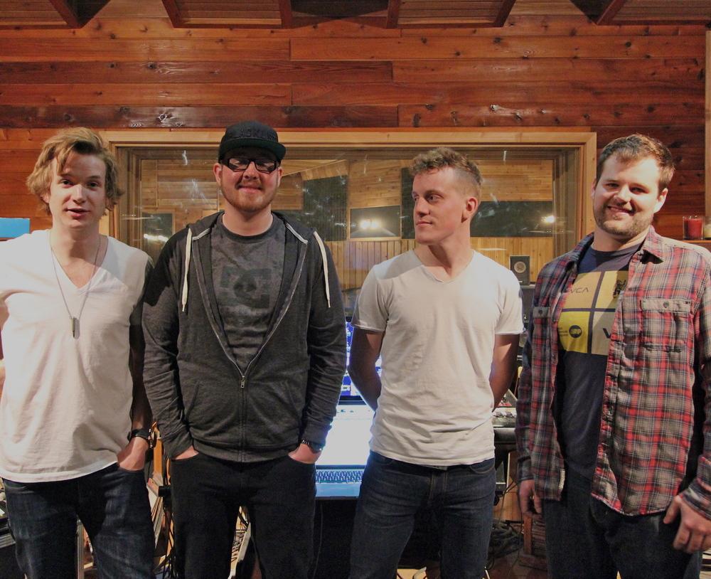 Scott, Derek, Eric, & Justin @ Bedside Studios. May 2015