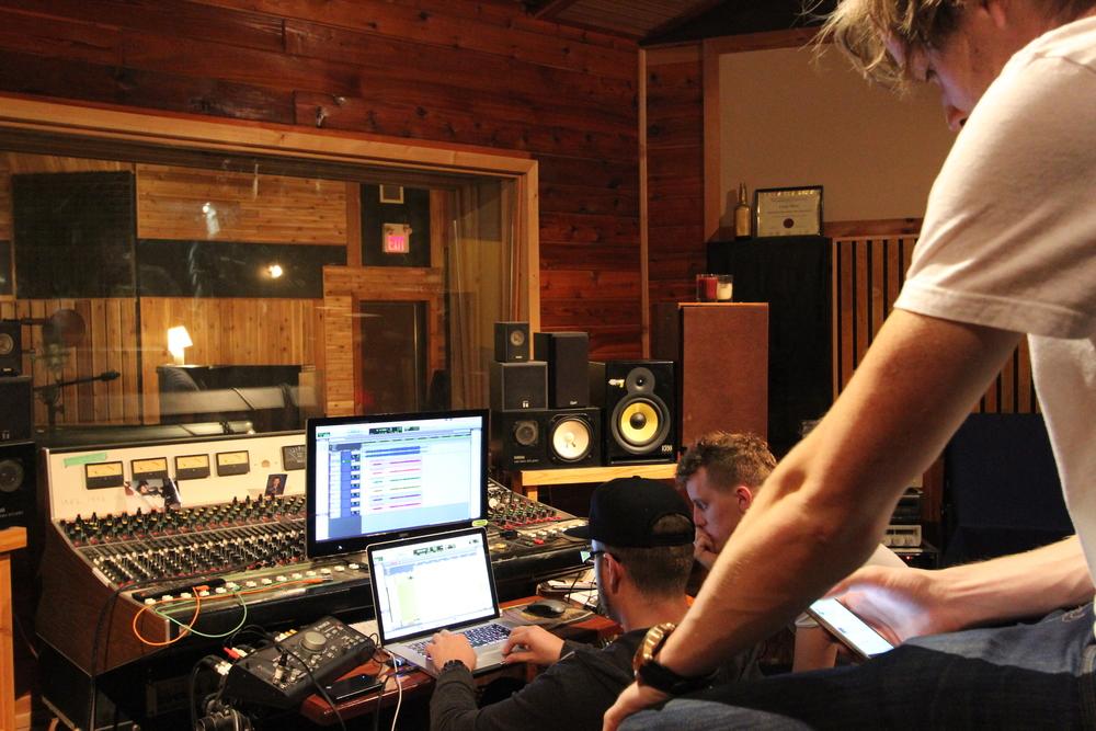 Derek, Eric, & Scott @ Bedside Studios. May 2015