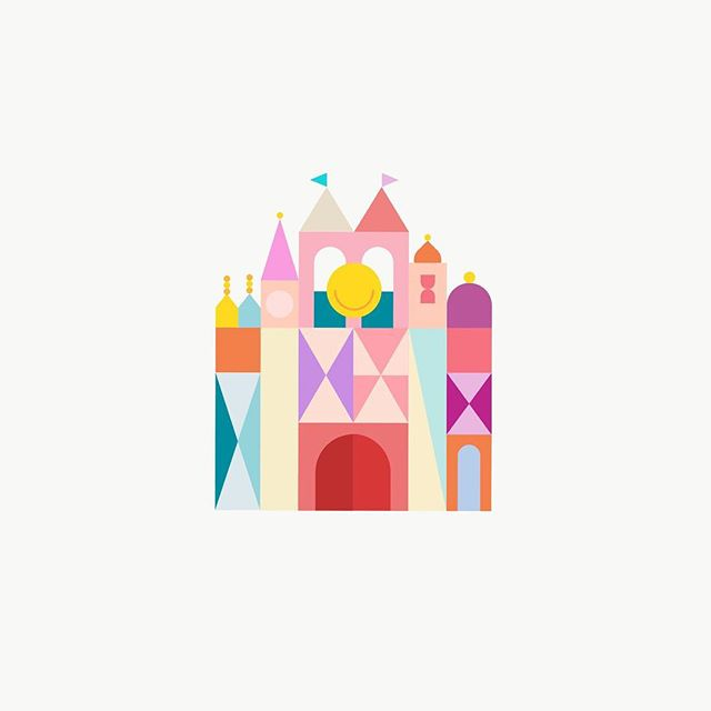 013 / it's a small world after all  #the100dayproject #100daysofgettingintoshapes #disney #disneydesigns #disneydetails #disneyland #smallworld #maryblair #illustration @assemblyapp