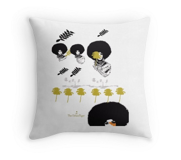'TUG TRUCK AND PALMS'                THROW CUSHION FROM £19.00