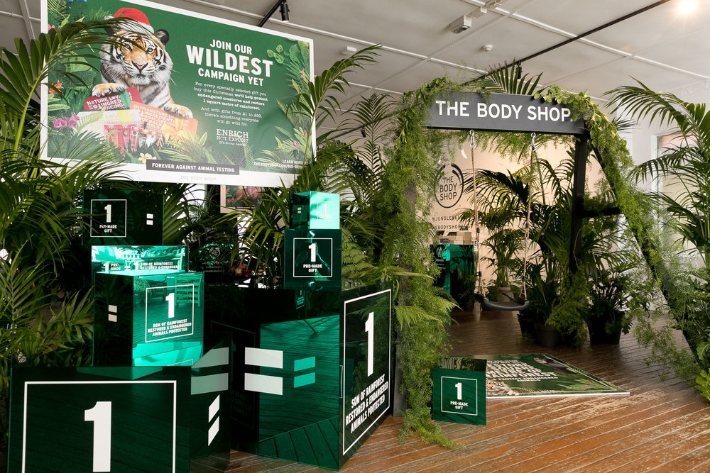 The Body shop Christmas launch.