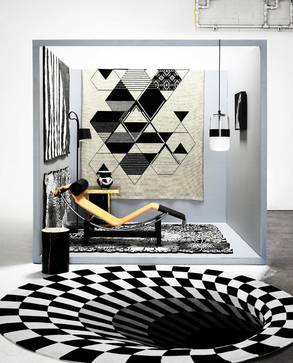 Belle  magazine rug feature. Image Edward Urrutia.