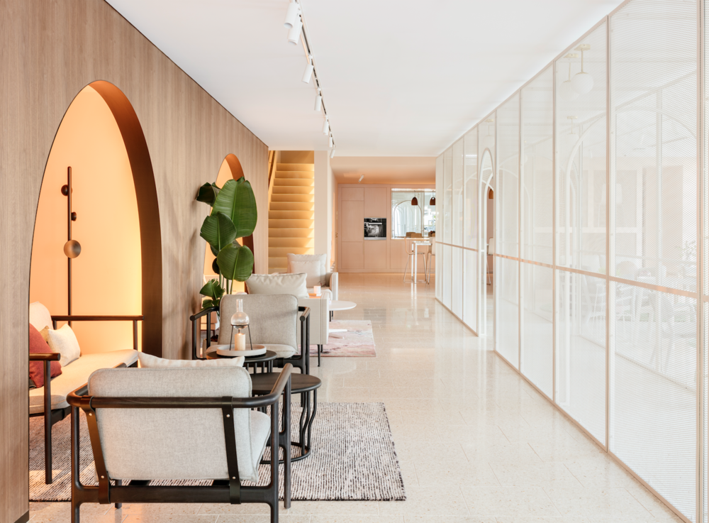 The space is filled with natural light and most importantly, a 'runway' central hallway.